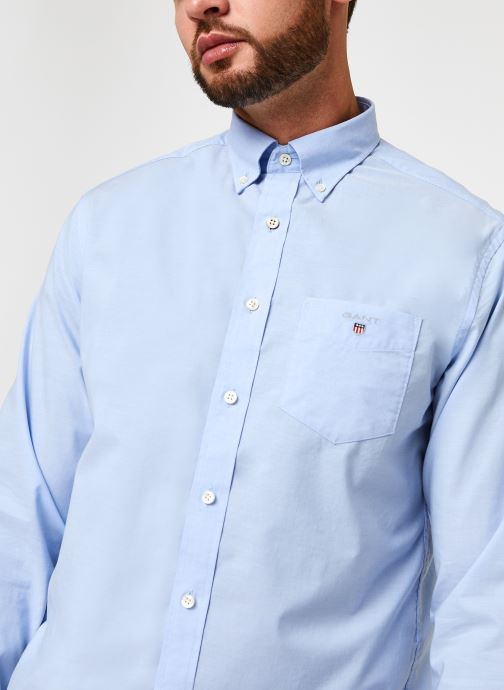 Vêtements GANT Reg Broadcloth Bd Bleu vue face