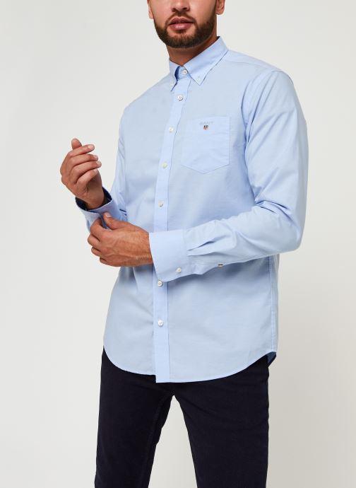 Vêtements GANT Reg Broadcloth Bd Bleu vue droite