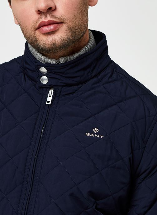 Vêtements GANT The Quilted Windcheater 2 Bleu vue face