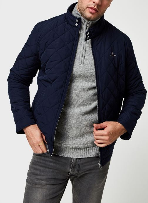 Vêtements GANT The Quilted Windcheater 2 Bleu vue détail/paire