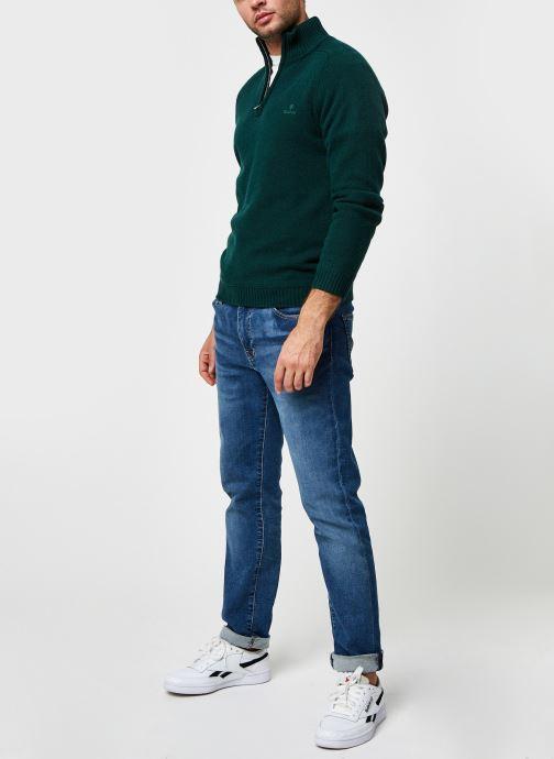 Vêtements GANT Shetland Halfzip Vert vue bas / vue portée sac