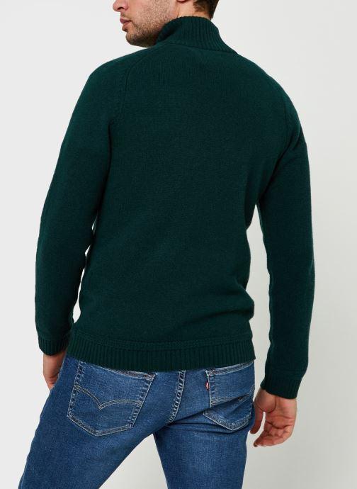Vêtements GANT Shetland Halfzip Vert vue portées chaussures