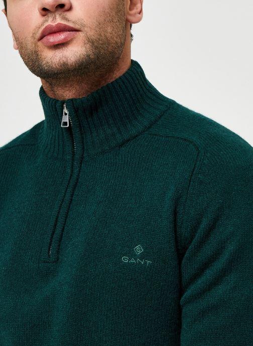 Vêtements GANT Shetland Halfzip Vert vue face