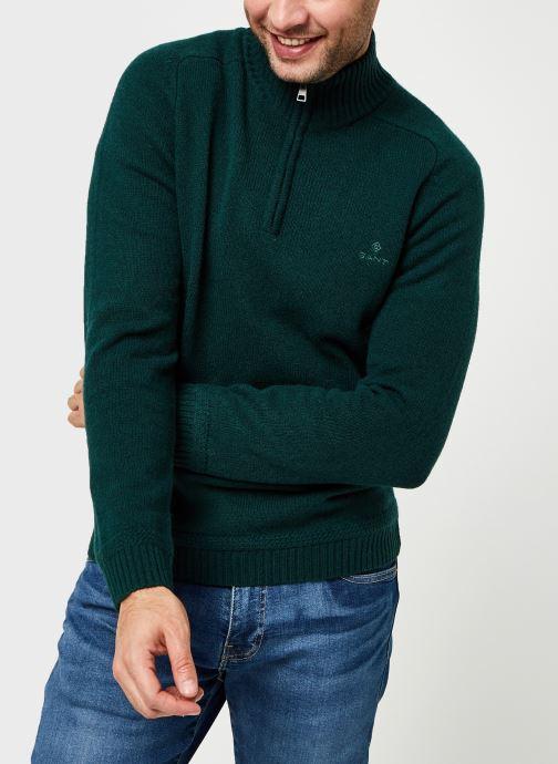 Vêtements GANT Shetland Halfzip Vert vue droite