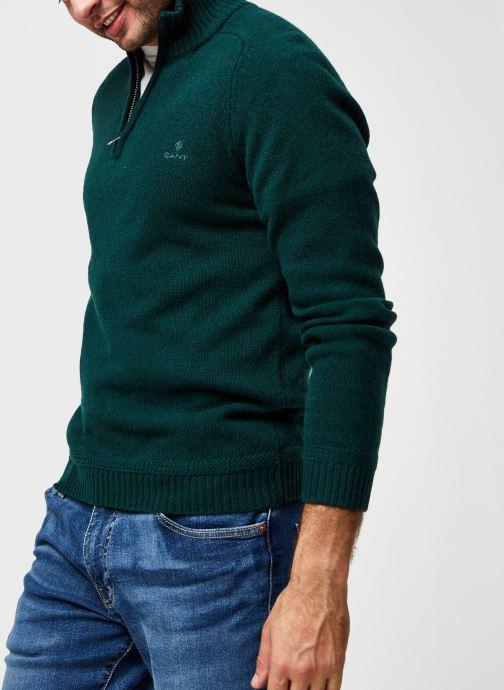 Vêtements GANT Shetland Halfzip Vert vue détail/paire