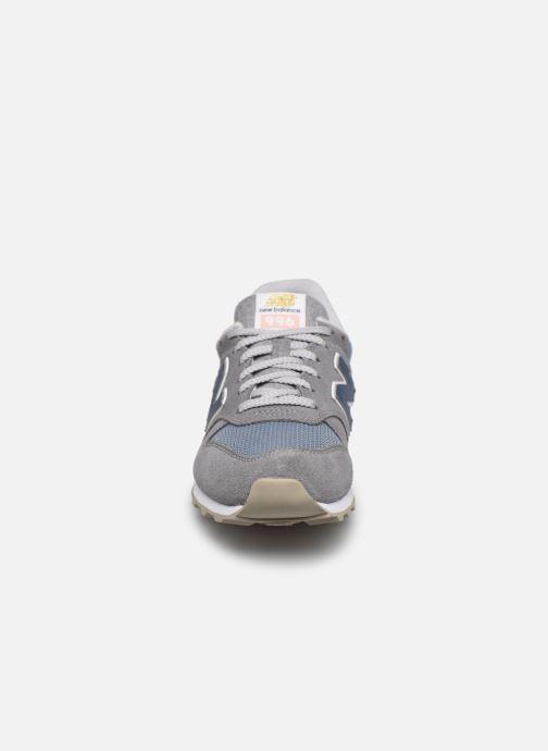Baskets New Balance WL996 W Gris vue portées chaussures