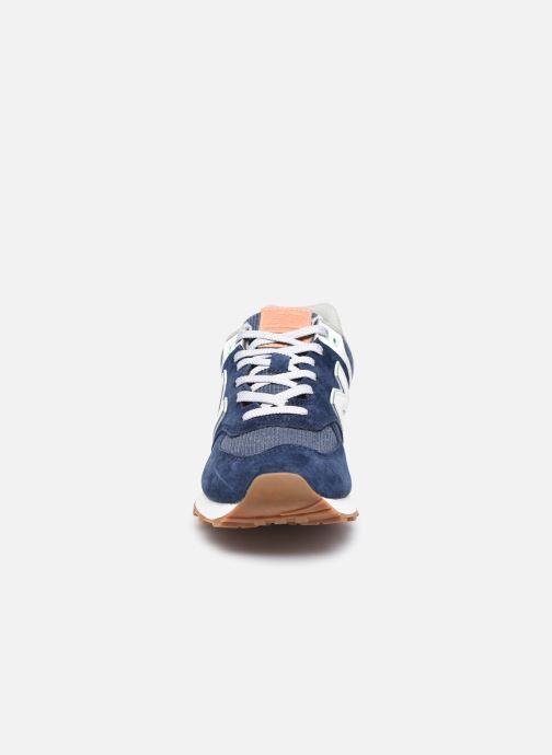 Sneaker New Balance WL574 W blau schuhe getragen