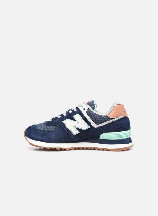 Sneaker New Balance WL574 W blau ansicht von vorne