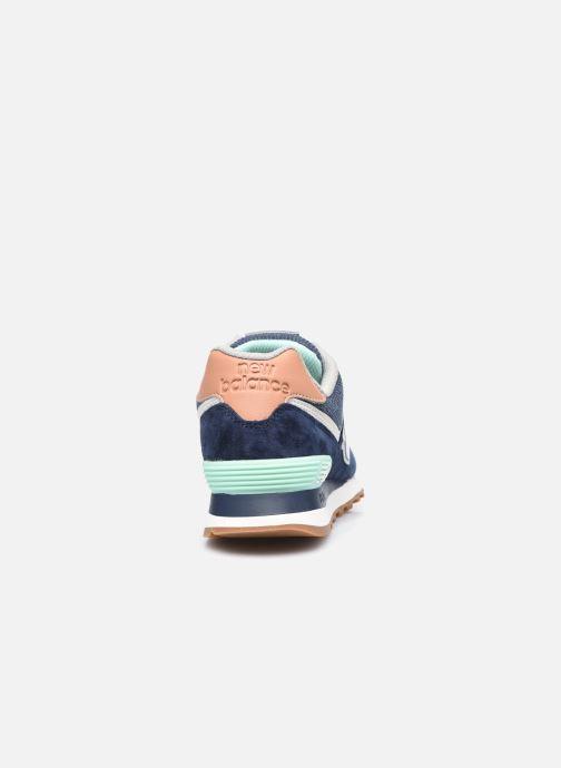 Sneaker New Balance WL574 W blau ansicht von rechts