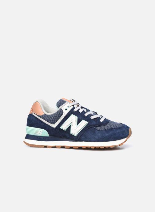 Sneaker New Balance WL574 W blau ansicht von hinten