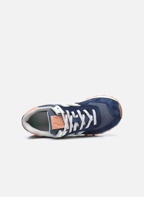 Sneaker New Balance WL574 W blau ansicht von links