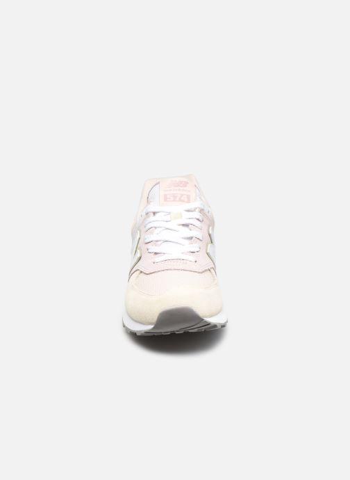 Baskets New Balance WL574 W Rose vue portées chaussures