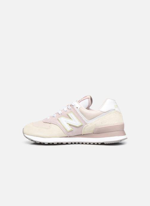 Sneaker New Balance WL574 W rosa ansicht von vorne