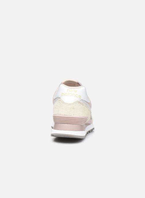 Sneaker New Balance WL574 W rosa ansicht von rechts