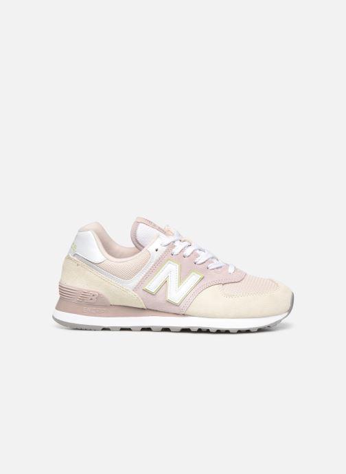 Sneaker New Balance WL574 W rosa ansicht von hinten