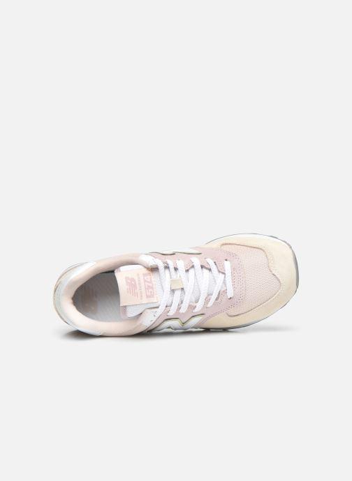 Sneaker New Balance WL574 W rosa ansicht von links