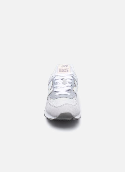 Sneaker New Balance WL574 W grau schuhe getragen