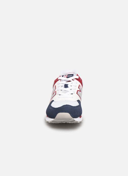 Baskets New Balance WL574 W Bleu vue portées chaussures