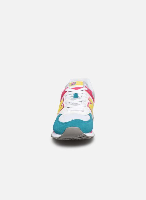 Baskets New Balance WL574 W Gris vue portées chaussures