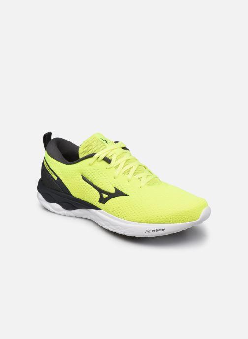 Sportschuhe Mizuno Wave Revolt - M gelb detaillierte ansicht/modell