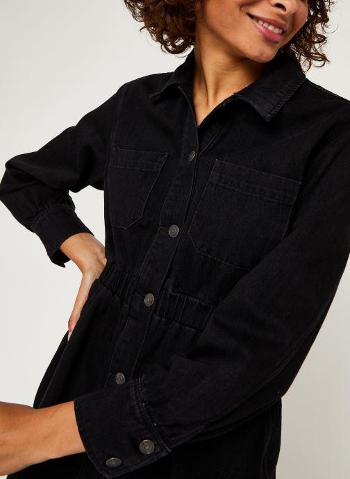 Vêtements Selected Femme Slfally Ls Midi Black Denim Dress W Noir vue face