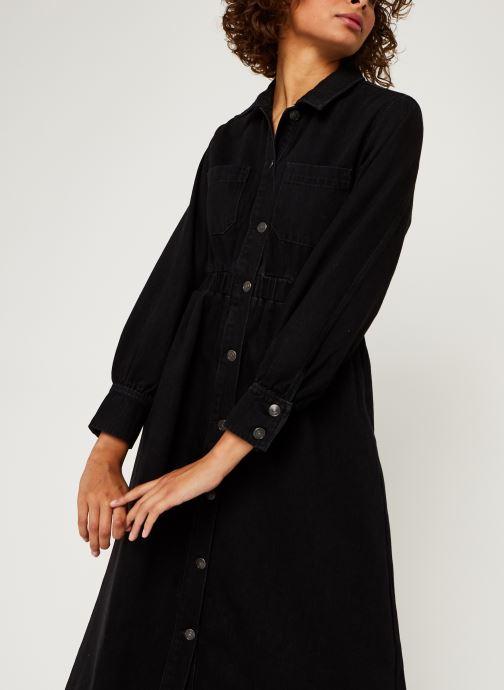 Vêtements Selected Femme Slfally Ls Midi Black Denim Dress W Noir vue droite
