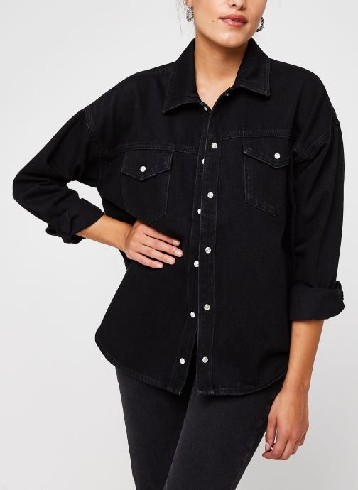 Chemise - Slfally Ls Black Denim Shirt W
