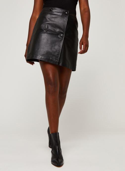 Kleding Accessoires Slfalberte Mw Leather Skirt W