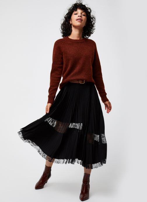Kleding Selected Femme Slflulu Ls Knit O-Neck  Noos Rood onder