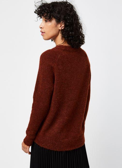 Kleding Selected Femme Slflulu Ls Knit O-Neck  Noos Rood model