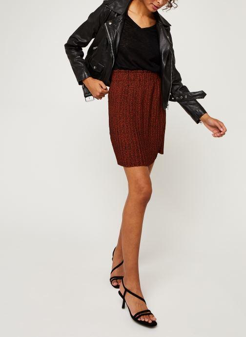 Vêtements Selected Femme Slfkinsley Mw Short Plisse Skirt B Rouge vue bas / vue portée sac