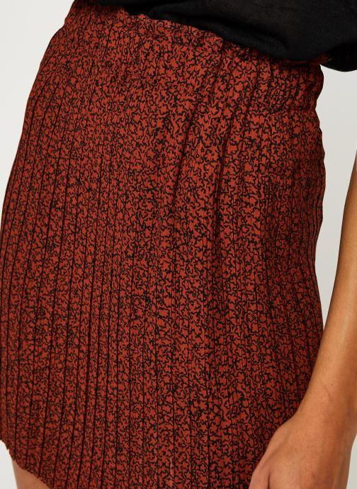 Vêtements Selected Femme Slfkinsley Mw Short Plisse Skirt B Rouge vue face