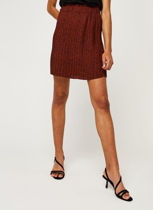 Vêtements Selected Femme Slfkinsley Mw Short Plisse Skirt B Rouge vue détail/paire