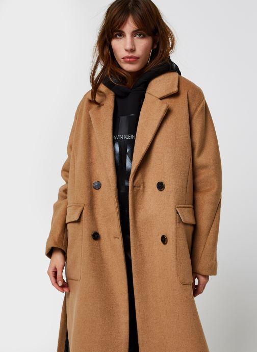 Kleding Selected Femme Slfelement Wool Coat B Bruin detail