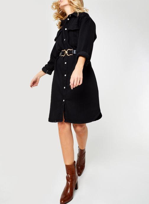 Kleding Selected Femme Slfdora Denim Long Shirt Zwart onder