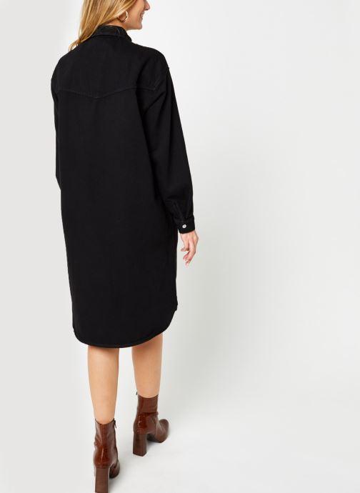 Kleding Selected Femme Slfdora Denim Long Shirt Zwart model