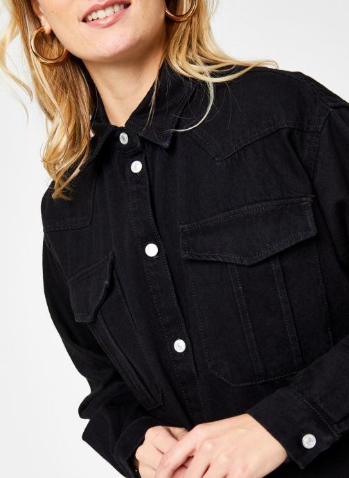 Kleding Selected Femme Slfdora Denim Long Shirt Zwart voorkant