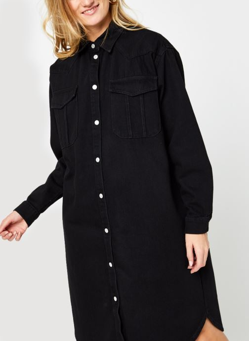 Kleding Selected Femme Slfdora Denim Long Shirt Zwart rechts