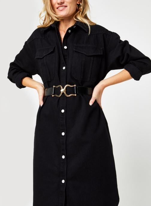 Ropa Selected Femme Slfdora Denim Long Shirt Negro vista de detalle / par