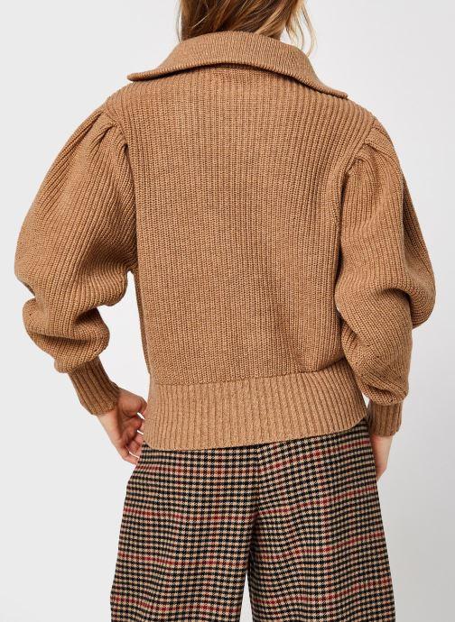 Kleding Selected Femme Slfkatty Puff Sleeve Knit Bruin model