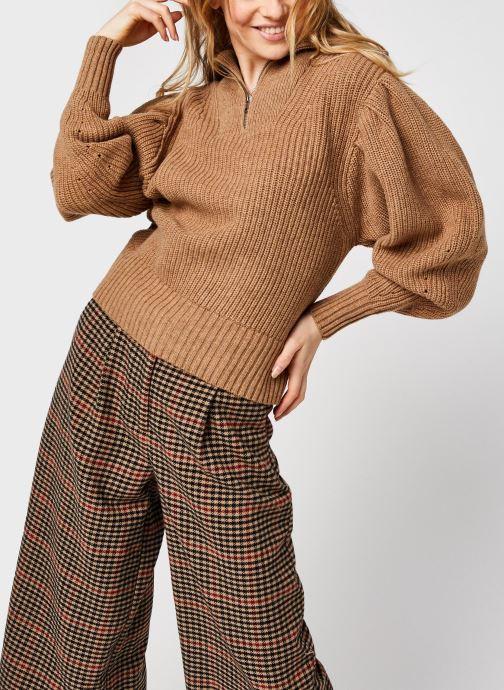 Kleding Selected Femme Slfkatty Puff Sleeve Knit Bruin rechts