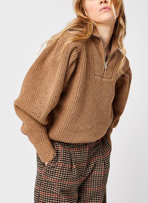 Kleding Selected Femme Slfkatty Puff Sleeve Knit Bruin detail