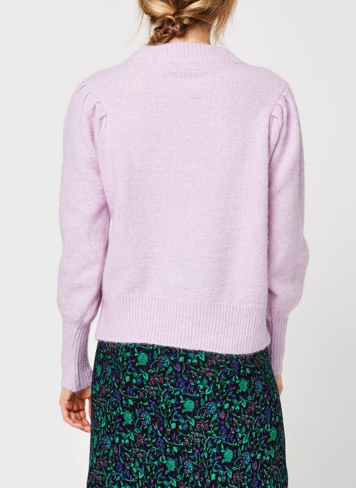 Kleding Selected Femme Slflinna Knit O-Neck Roze model