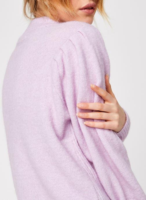 Kleding Selected Femme Slflinna Knit O-Neck Roze voorkant