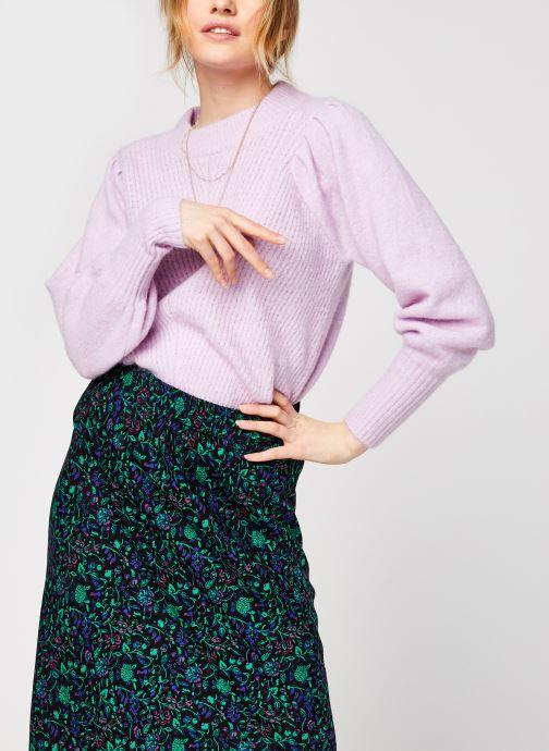 Kleding Selected Femme Slflinna Knit O-Neck Roze detail