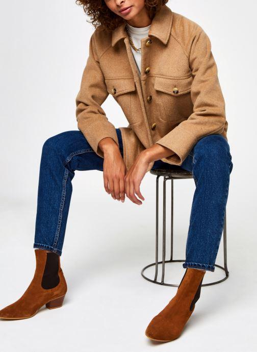Kleding Selected Femme Slfmaddy Wool Jacket Bruin onder