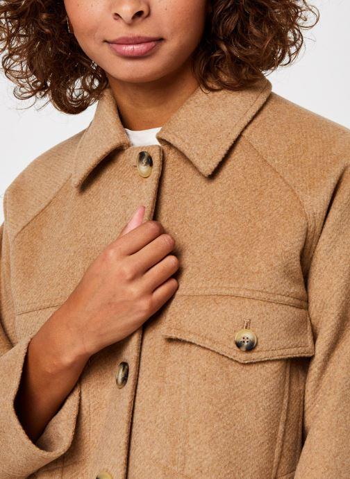 Kleding Selected Femme Slfmaddy Wool Jacket Bruin voorkant