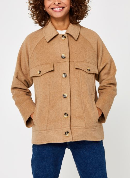 Kleding Selected Femme Slfmaddy Wool Jacket Bruin rechts
