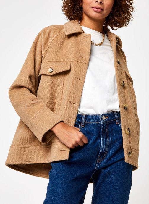 Kleding Selected Femme Slfmaddy Wool Jacket Bruin detail