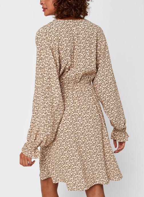 Vêtements Selected Femme Slfriyanka-Vienna Short Dress Marron vue portées chaussures